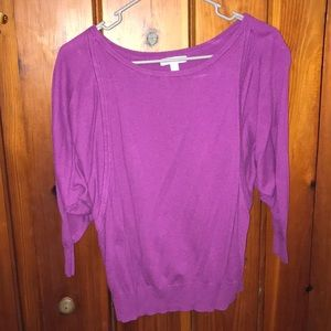 Plum loose scoop sweater